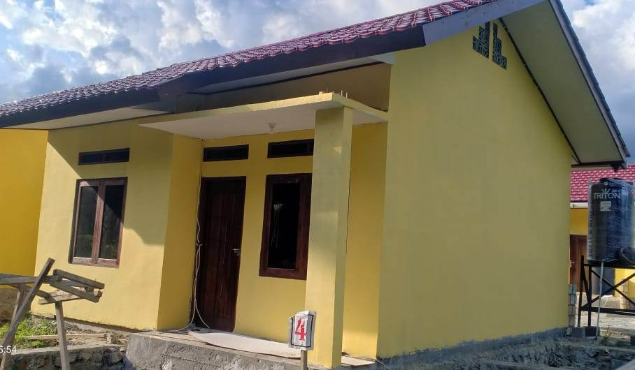Model rumah yang dibangun.