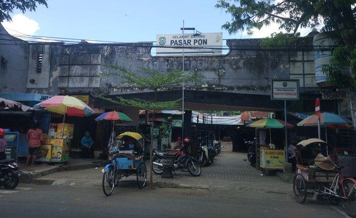 Pasar Pon Trenggalek pada 2018.