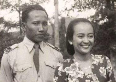 Gusti Nurul dan suaminya, Jarso © Repro Buku Gusti Nurul