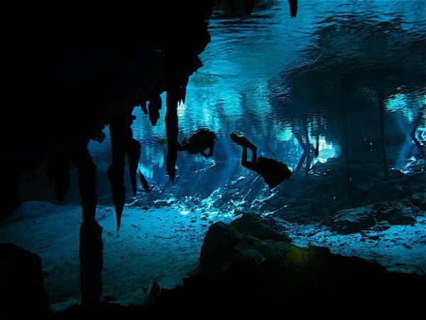 Blue Light Cave