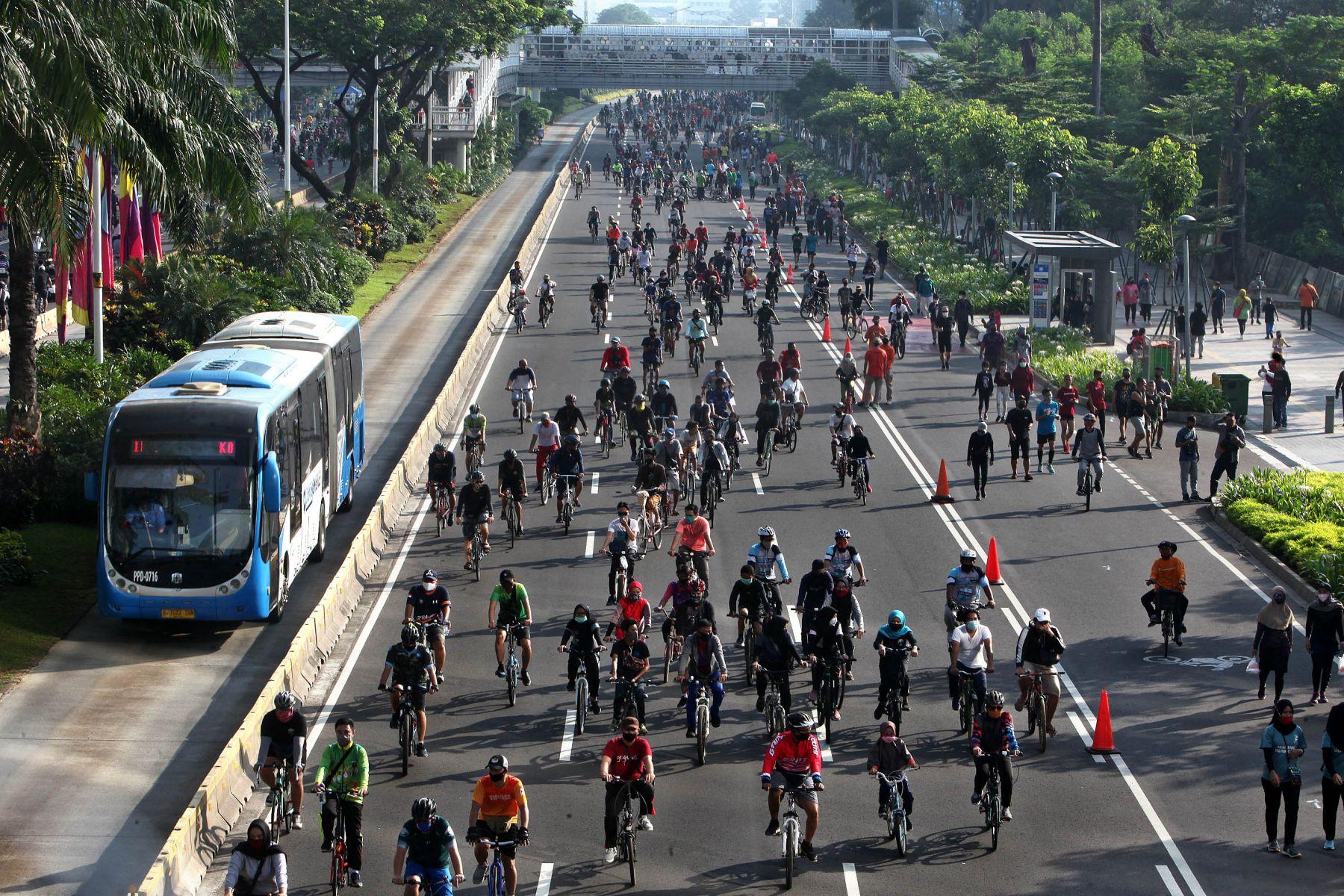 Selama pandemi covid-19, tren bersepeda di Jakarta meningkat hingga 1.000%