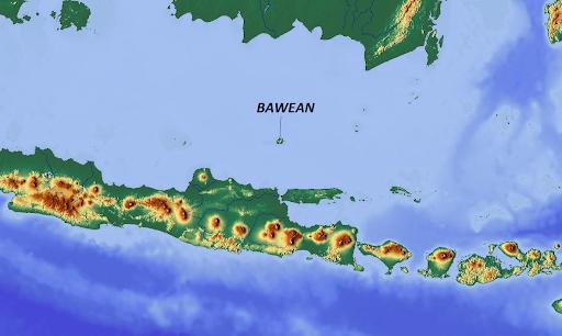 Pulau Bawean dalam Peta Indonesia