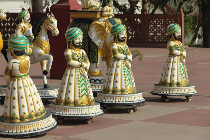 Catur motif India dari daerah Jaipur, Rajashtan.
