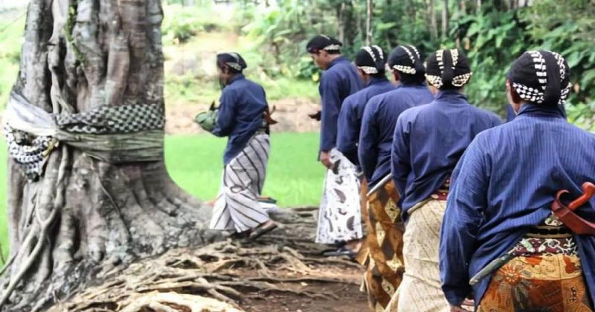 Ritual Penduduk Kampung Pitu Nglanggeran, Gunungkidul, Yogyakarta | Foto: Dewi Yuliantini/suara.com