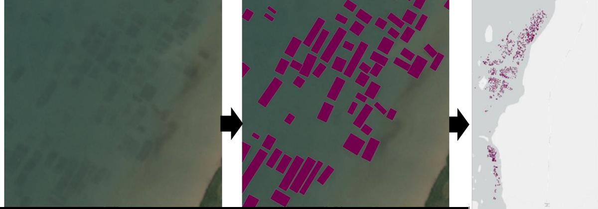 Mengubah citra satelit menjadi peta budi daya rumput laut | Riset The Conversation
