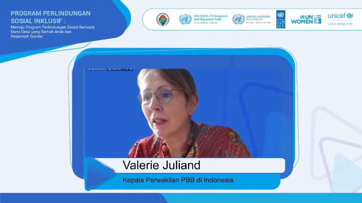 Valeries Juliand selaku Kepala Perwakilan PBB di Indonesia dalam forum