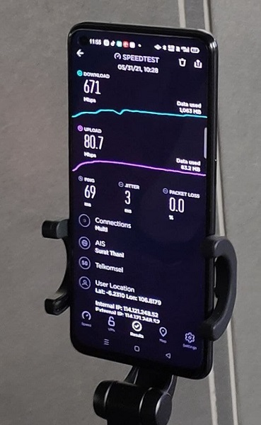 Hasil uji konektivitas 5G Telkomsel di Bandara Soekarno Hatta sebagai konektivitas tertinggi
