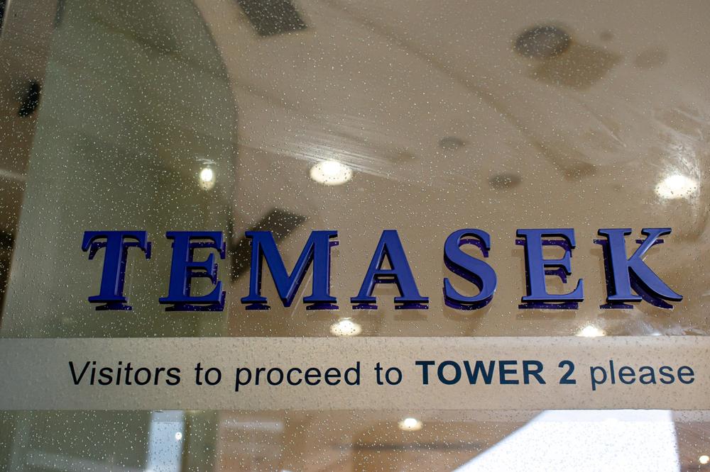 Logo Temasek di kantor Orchard Road, Singapura