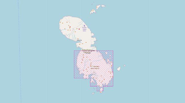 Gambaran luas wilayah pertambangan di Kepulauan Sangihe