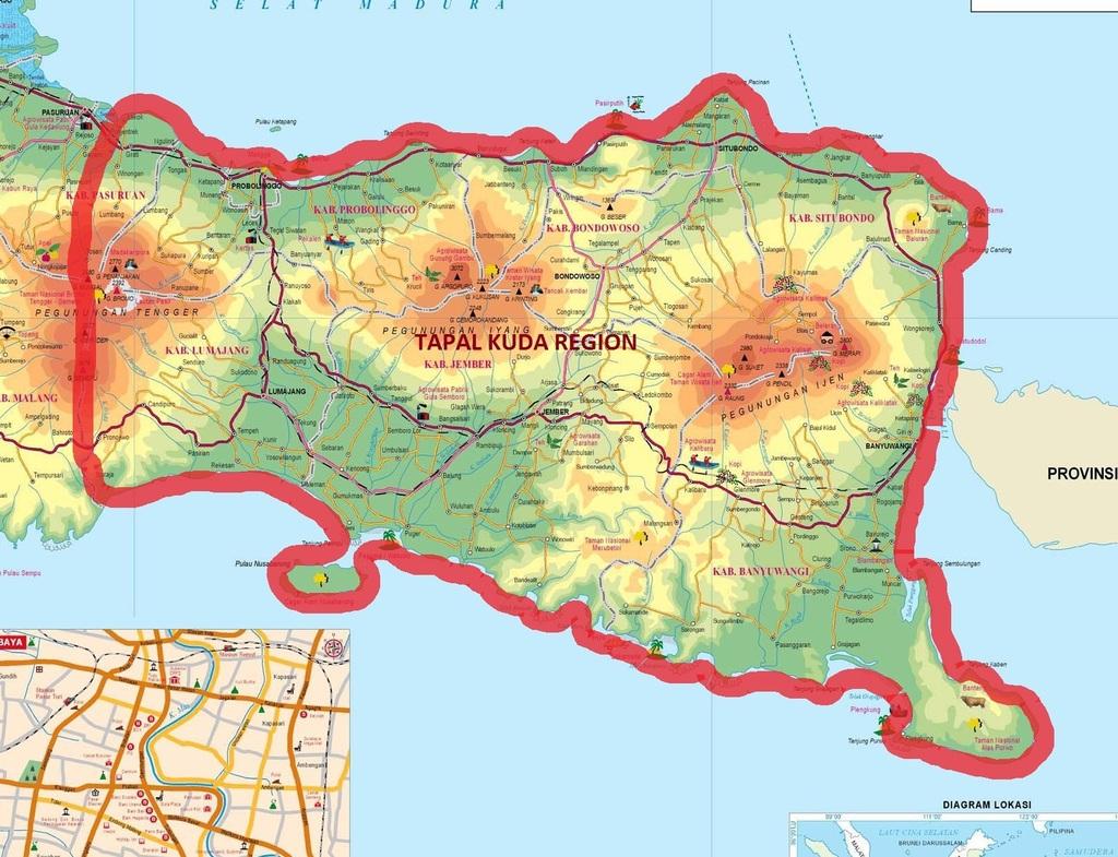 Peta Tapal Kuda | Foto: Yayasan Pendidikan Pesantren Zainul Hasan Genggong