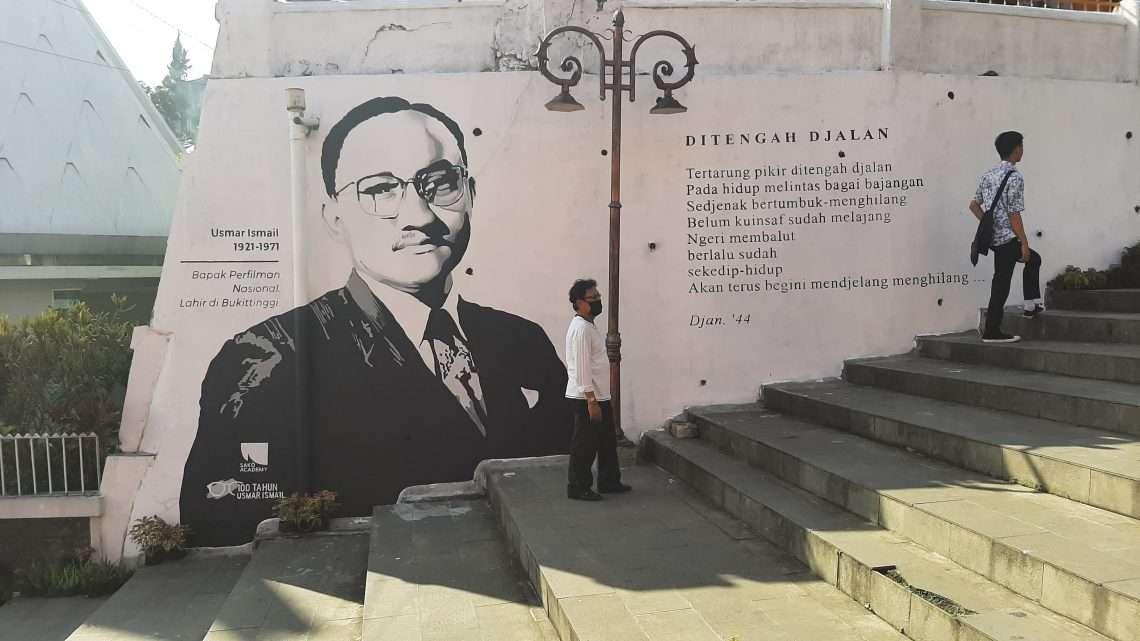 Mural 100 Tahun Usmar Ismail di Bukittinggi