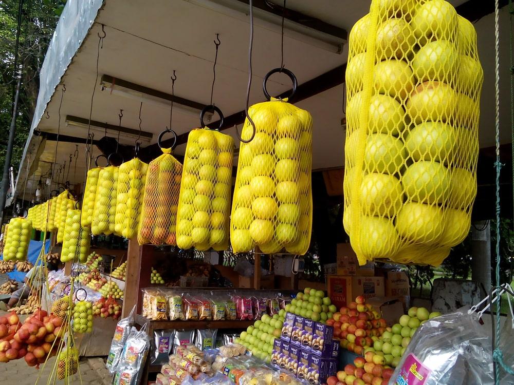 Apel Manalagi, salah satu jenis apel terkenal yang banyak dijual di Malang