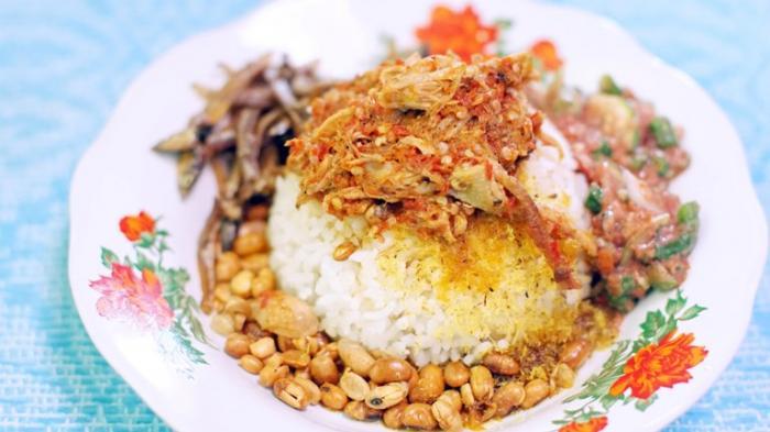 Nasi Balap Puyung | Foto: Tribun Travel