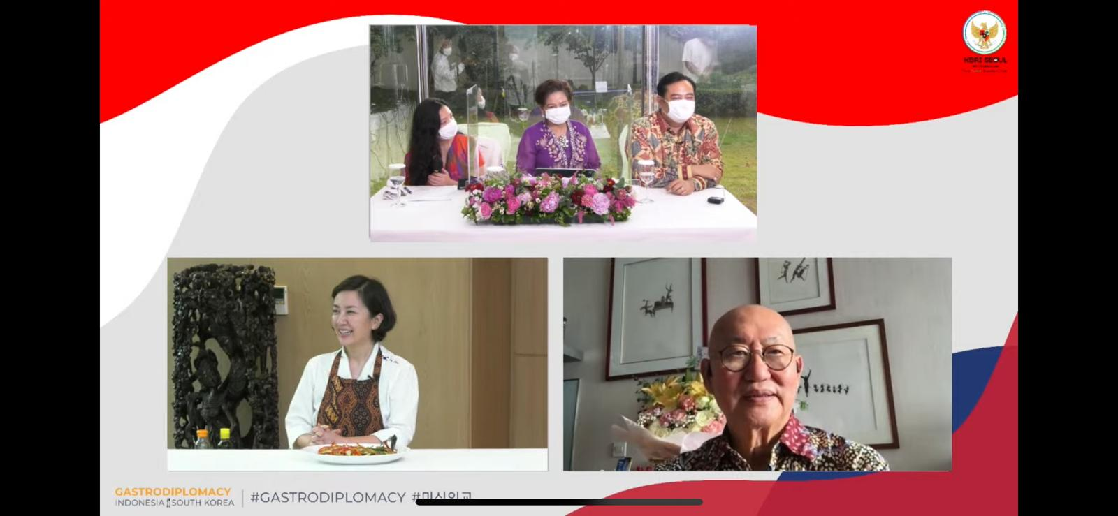 Gastrodiplomasi virtual Indonesia dan Korea Selatan