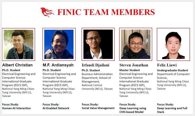 Anggota dari tim FINIC © NYCU Taiwan