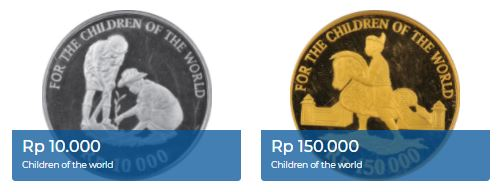 2 uang logam edisi Children of The World