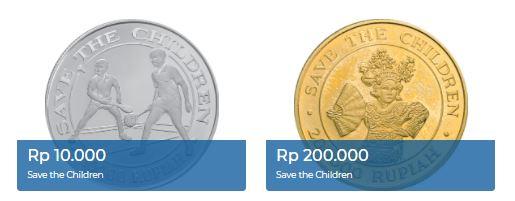 uang logam edisi khusus Save the Children