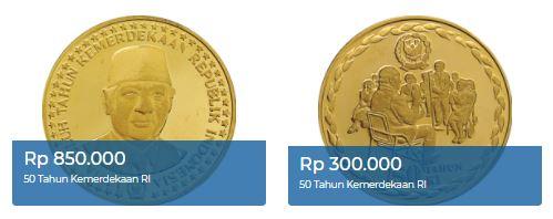 uang logam edisi khusus HUT ke-50 RI