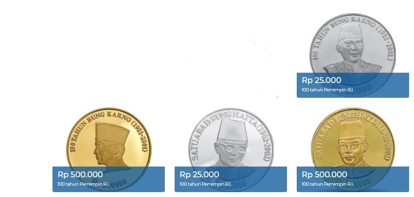 uang logam khusus edisi 100 tahun Pemimpin RI