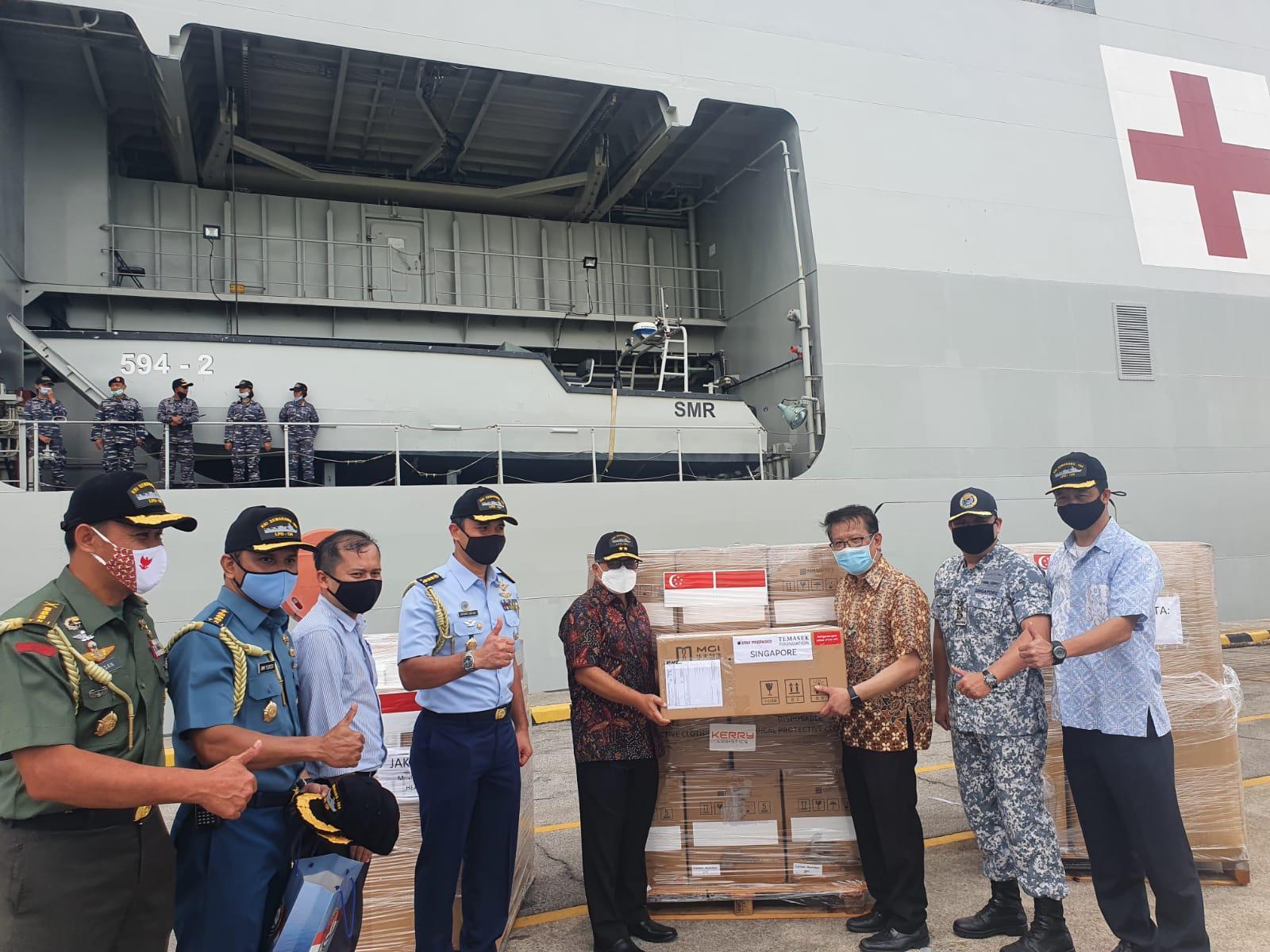 Bantuan peralatan medis dari Temasek Singapura untuk Indonesia