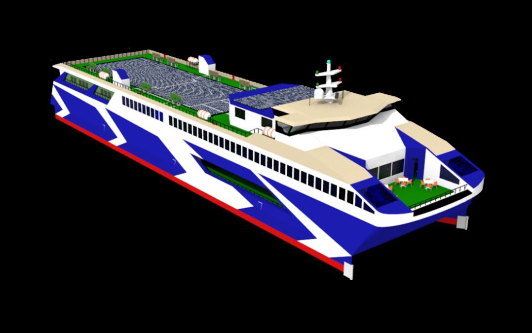 Karya Nawasena ITS pada International Student Design Competition yang diselenggarakan oleh Worldwide Ferry Safety Association