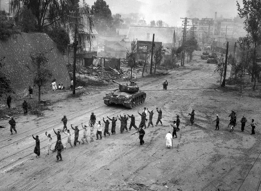 Reruntuhan Seoul pada Perang Korea | goodfreephotos.com