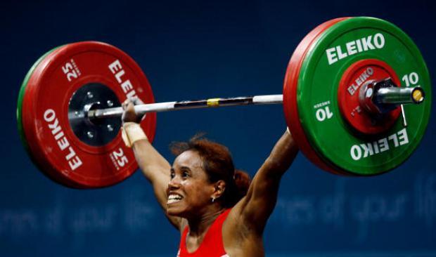 Lisa Rumbewas pada Olimpiade Athena 2004   Indo Sport