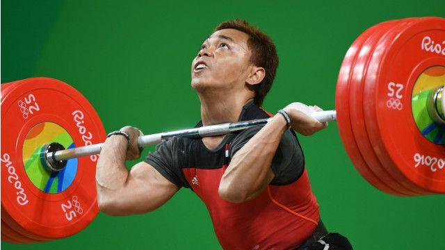 Eko Yuli Irawan pada Olimpiade Rio 2016   GETTY Images