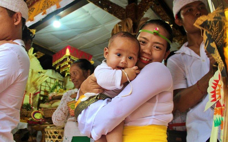 Ilustrasi bayi di Bali
