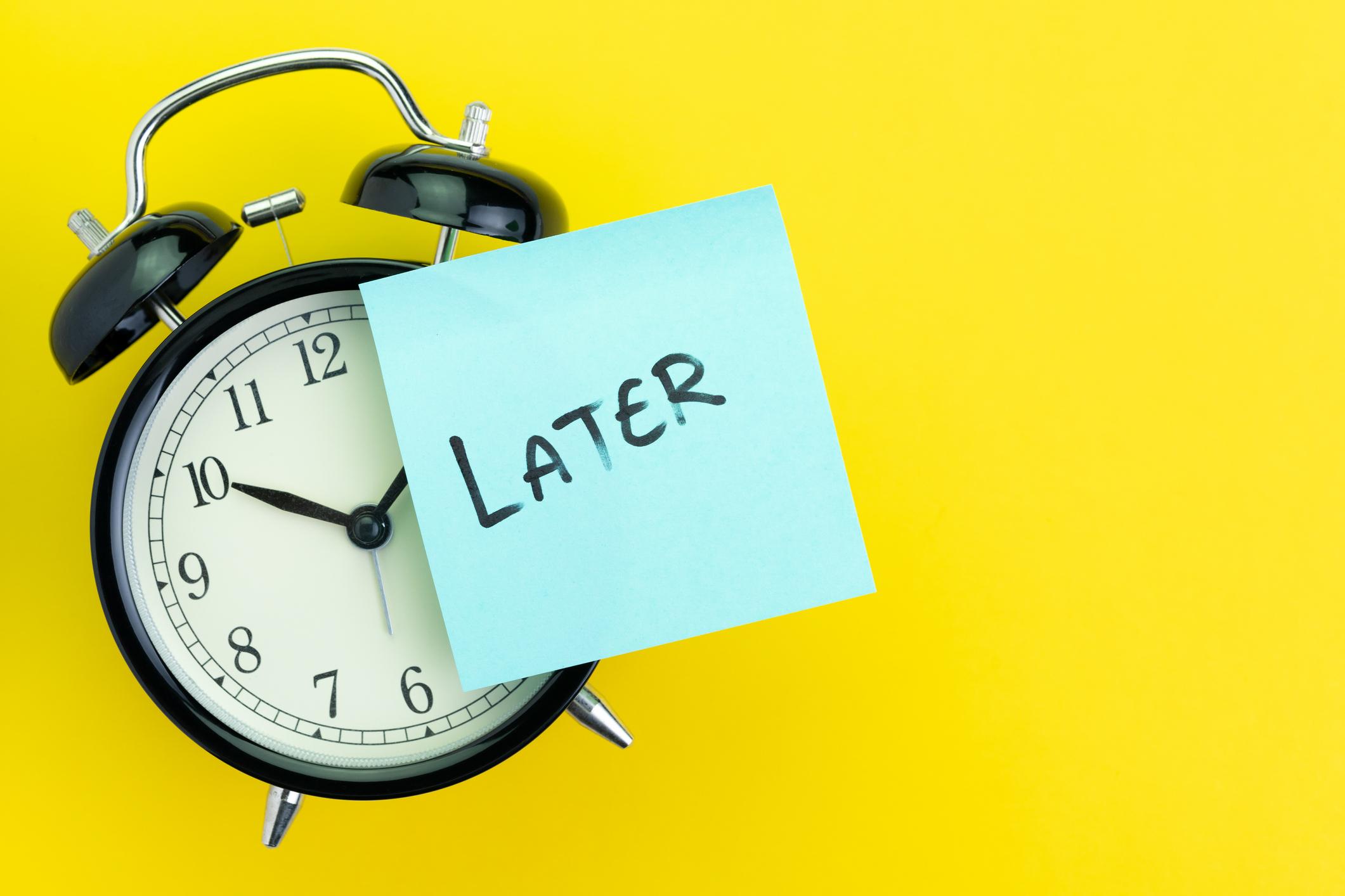 Ilustrasi prokrastinasi   Foto: Harold Taylor
