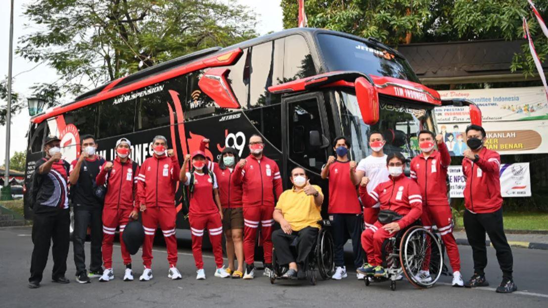 Keberangkatan kontingen Paralimpiade Indonesia