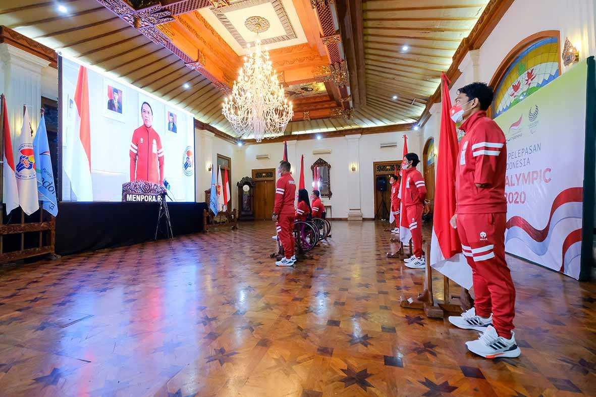 Pelepasan kontingen Paralimpiade Indonesia oleh Menpora secara virtual