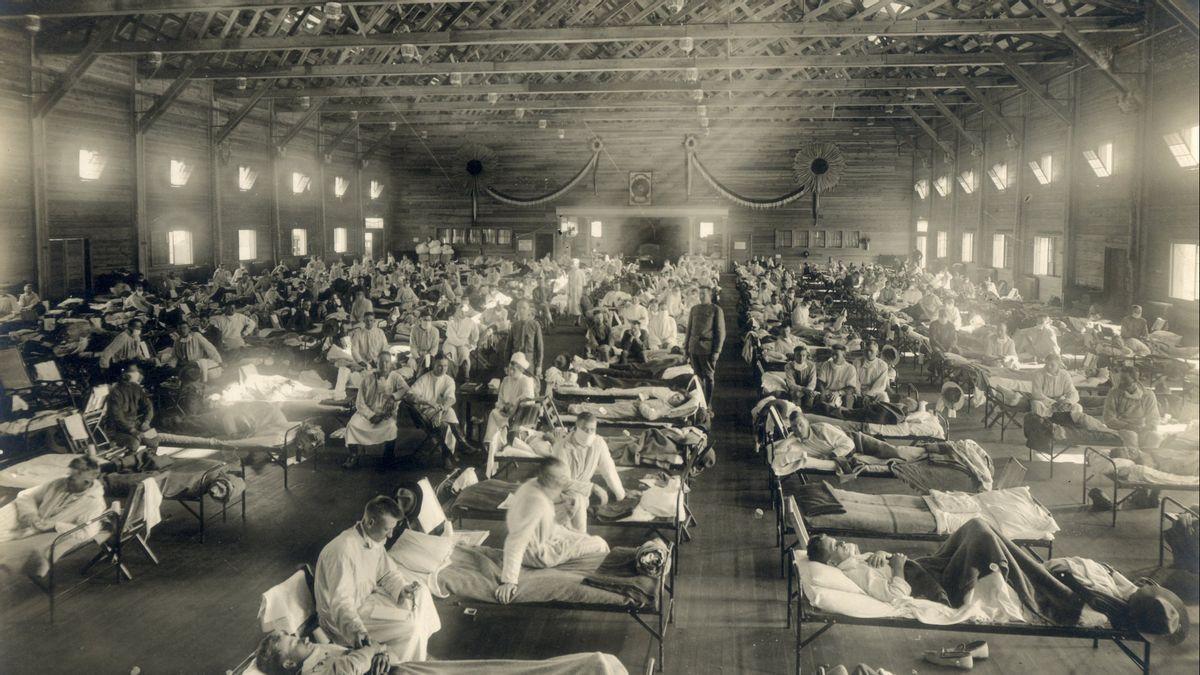 Gambaran Flu Spanyol yang saat ini dikenal sebagai Influenza