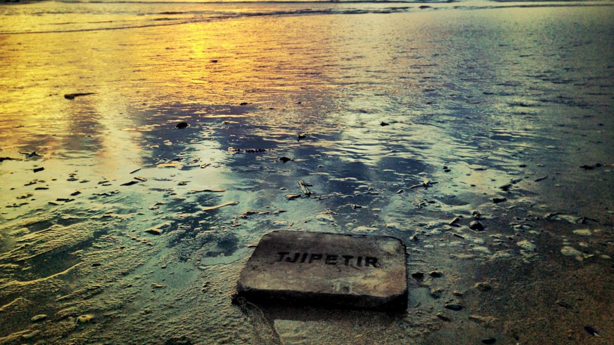 Balok Gutta Percha Tjipetir yang terdampar di Eropa