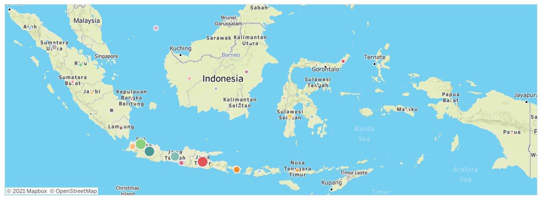 Peta penyebaran vaksinasi Covid-19 di Indonesia