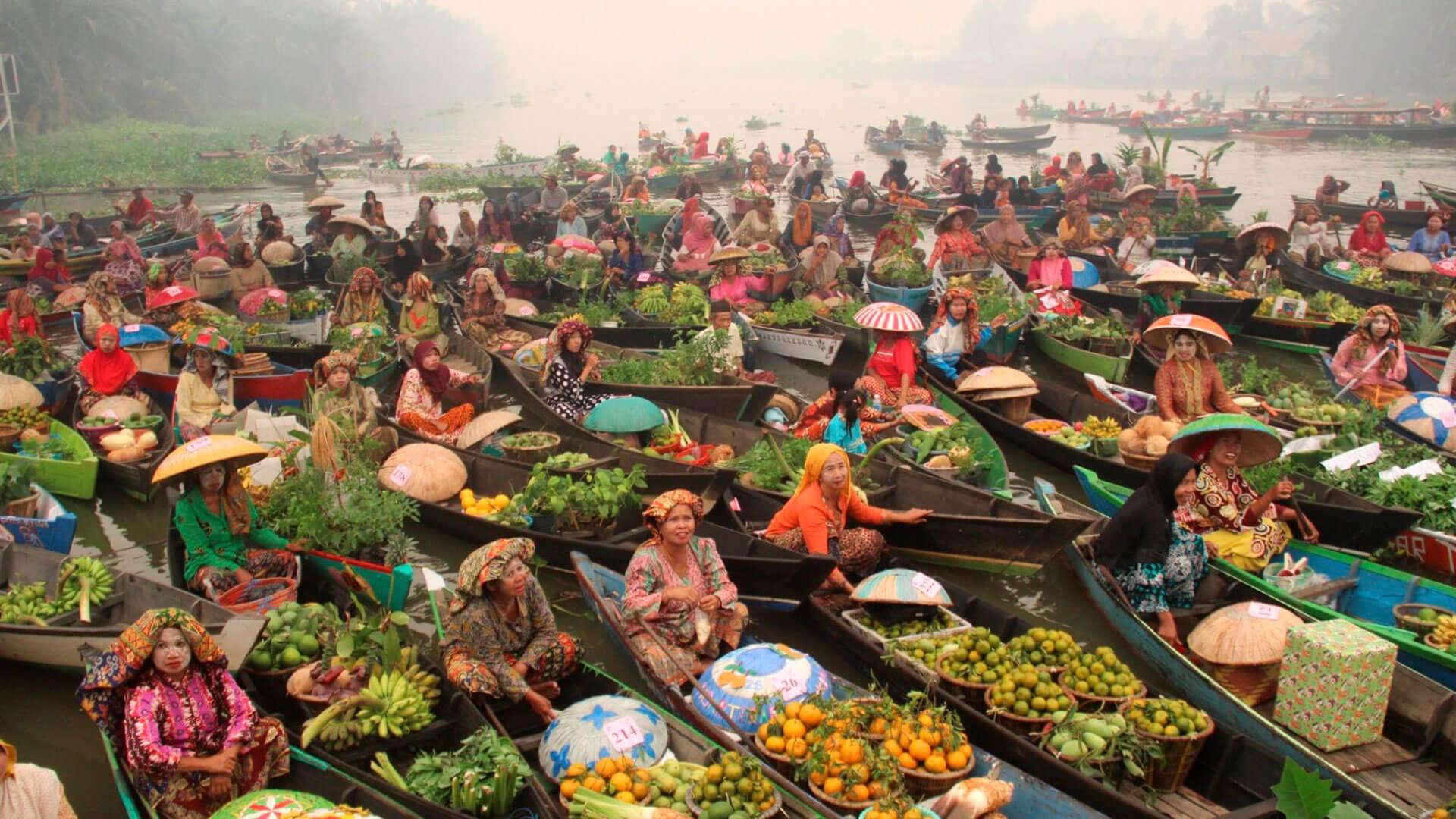 Pasar Terapung   Foto: Berita Papua
