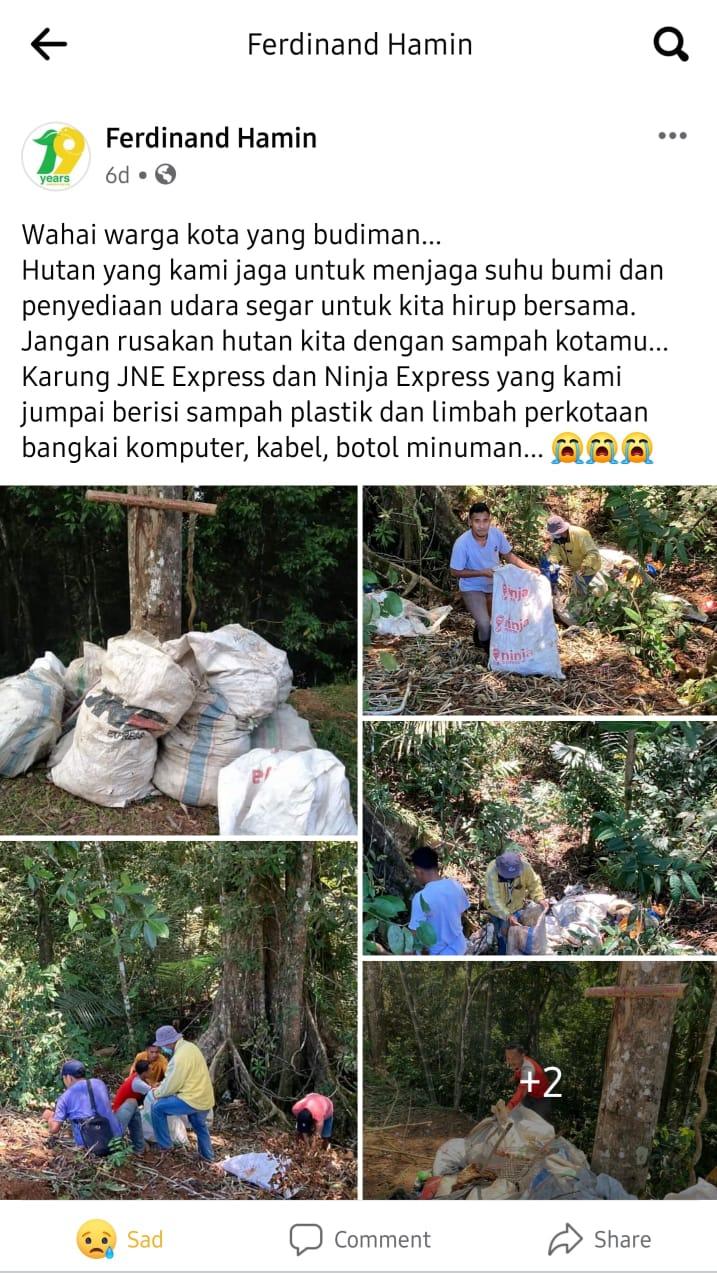 isu sampah hutan