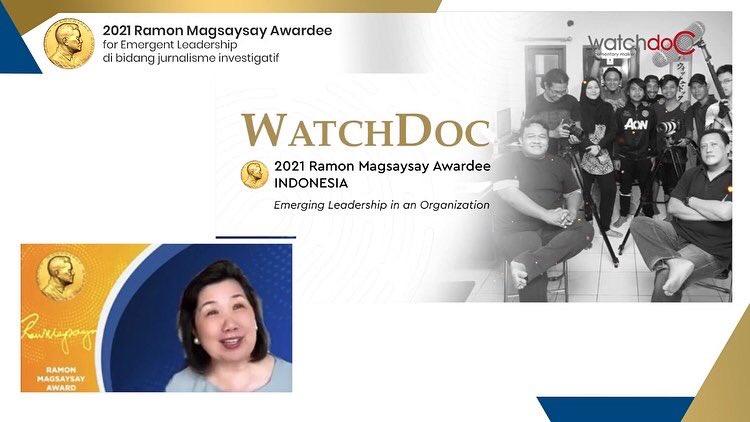 Penganugerahan Magsaysay Award | Twitter Watchdoc Indonesia