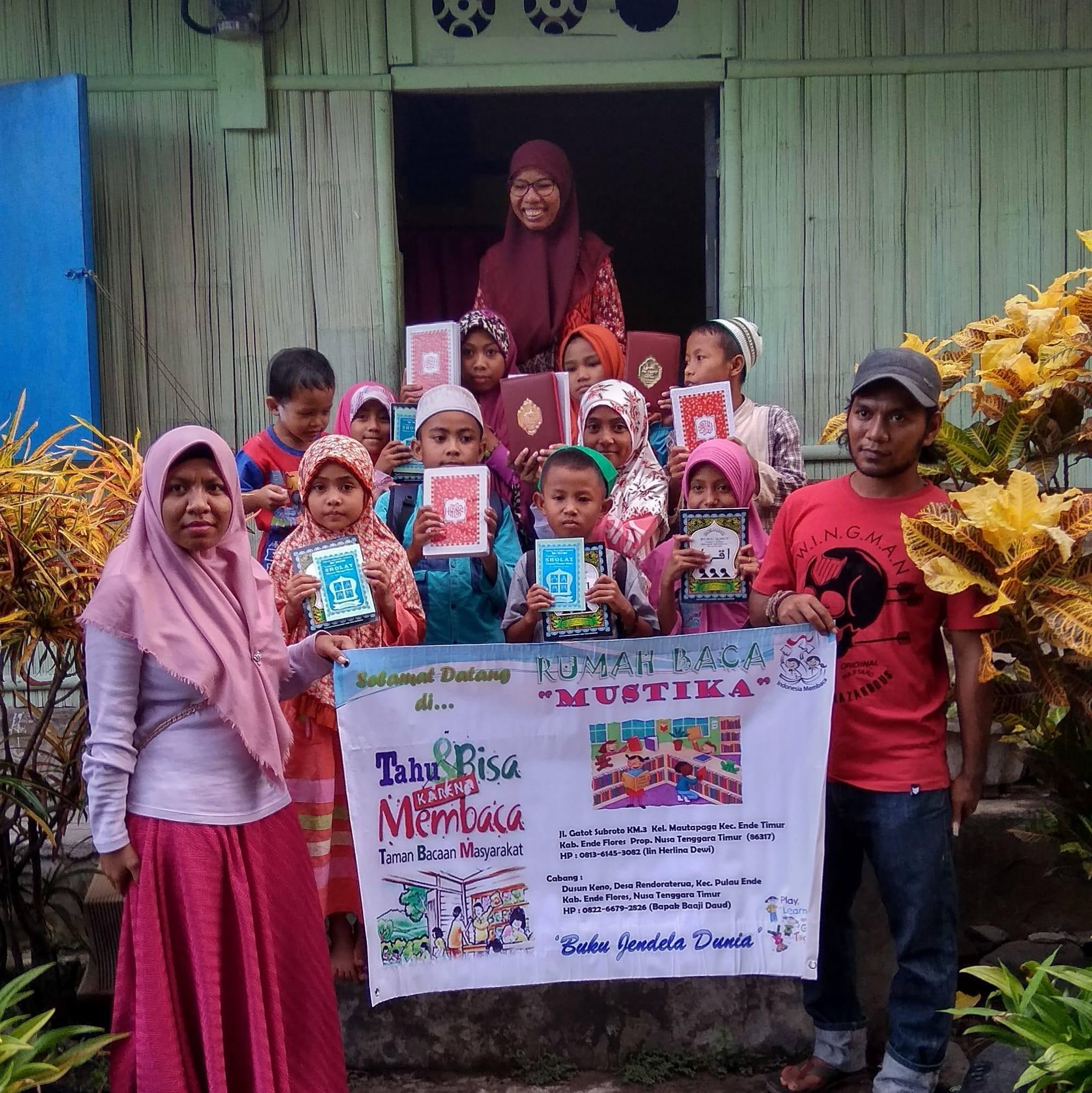 Rumah Baca Mustika, salah satu komunitas literasi di Indonesia