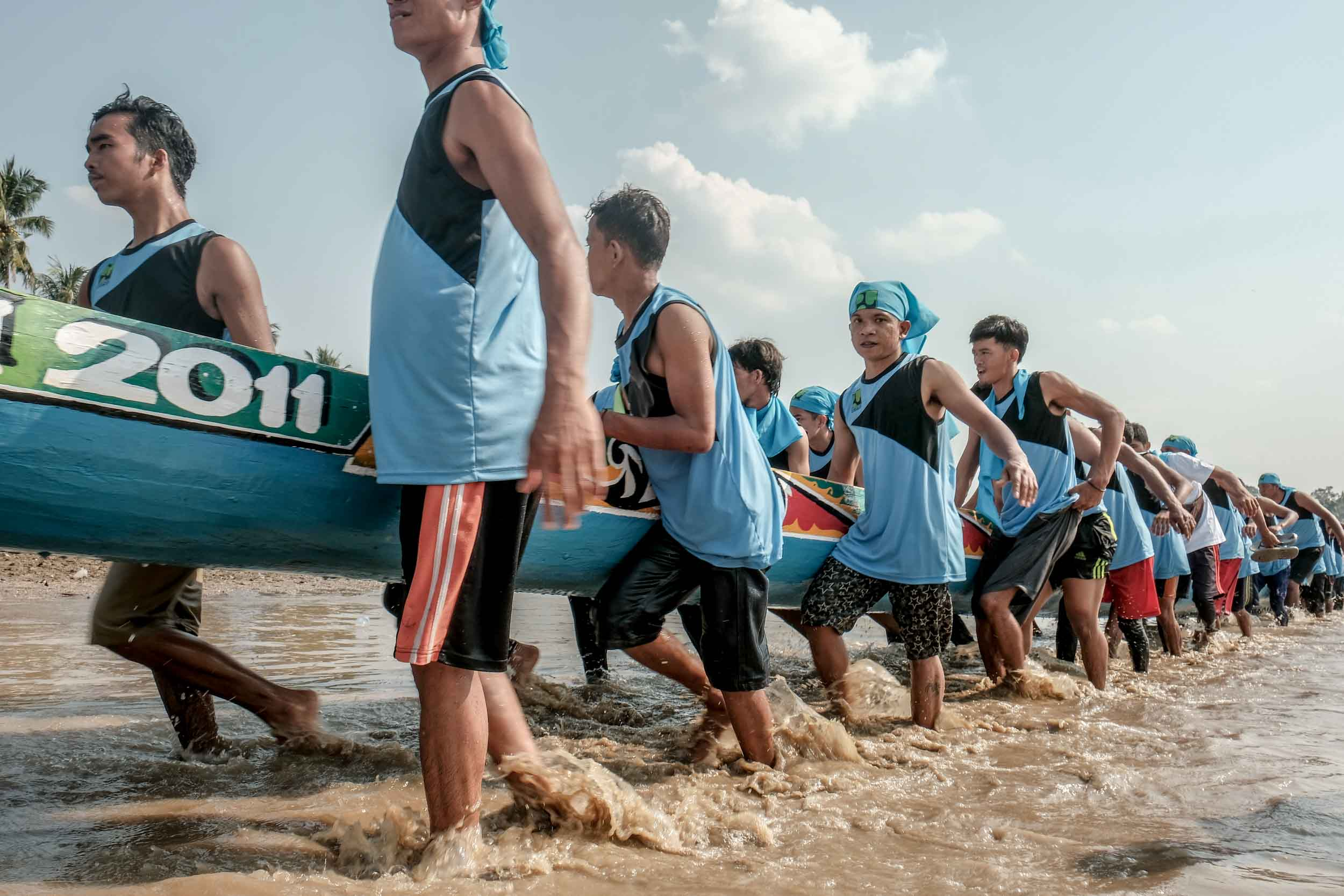Pelaksanaan Festival Pacu Jalur 2019 pada 21-25 Agustus 2019 di Tepian Narosa Teluk Kuantan, Kuantan Singingi (Kuansing), Riau | Kemenparekraf