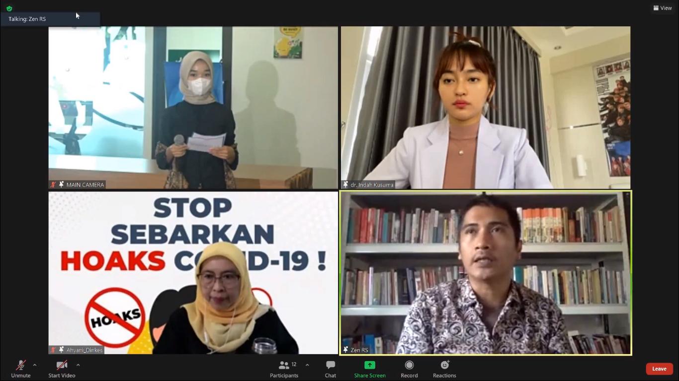 Tangkapan layar webinar LITERATALKS 3.0 | Foto: Bandung.go.id
