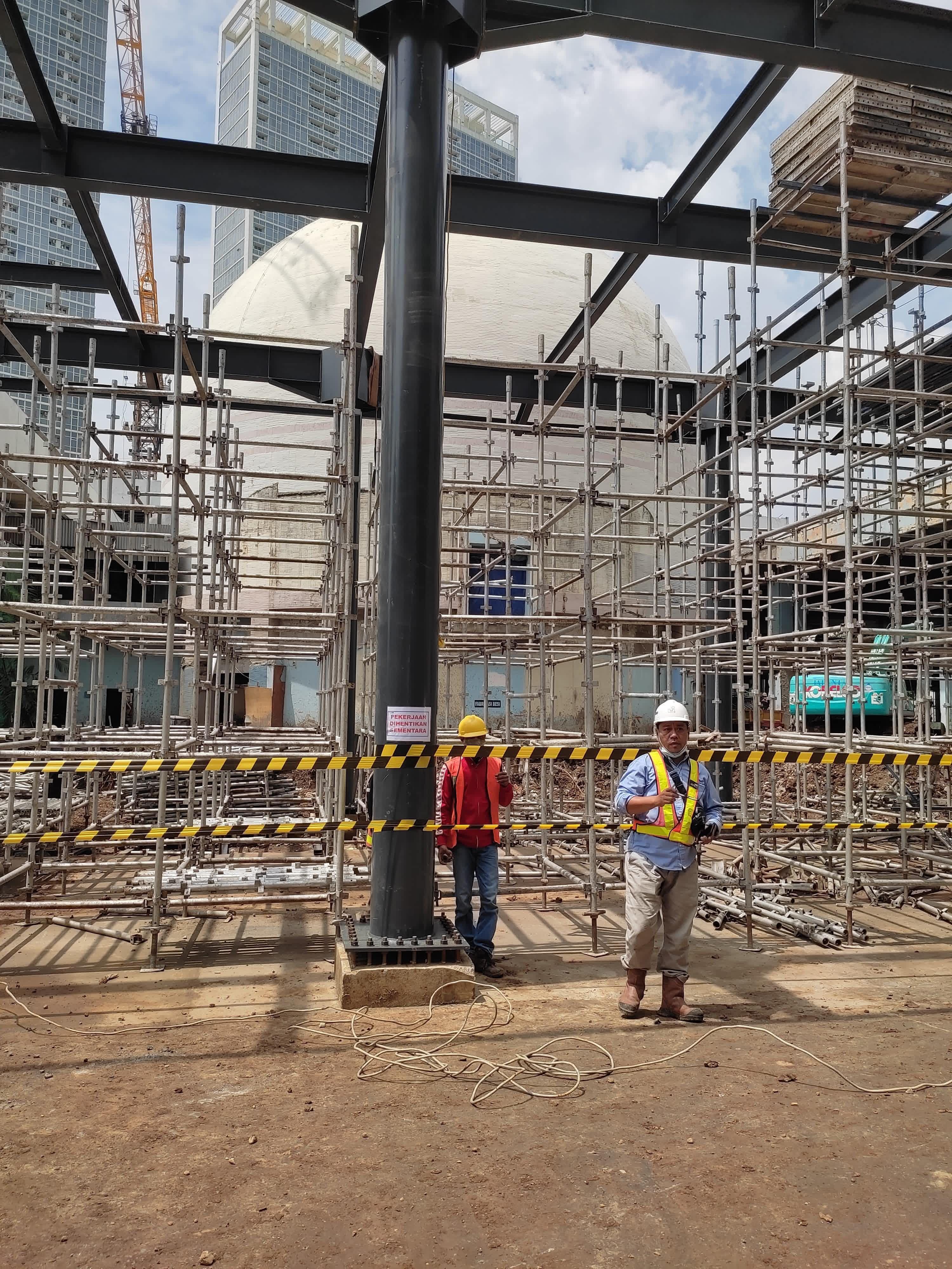 Photo konstruksi bangunan (Dok: Rizky Kusumo)