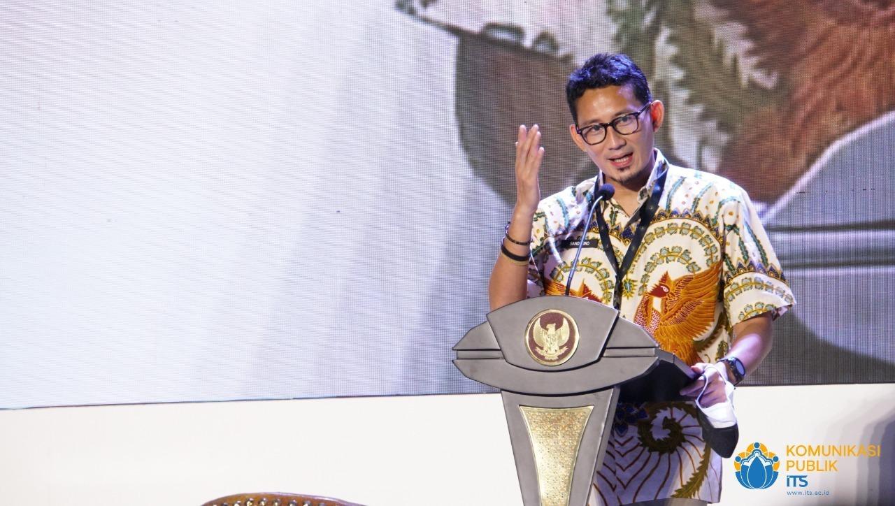 Menparekraf) RI Sandiaga Salahuddin Uno pada Peluncuran ITS 5G Experience Center | Foto: ITS News
