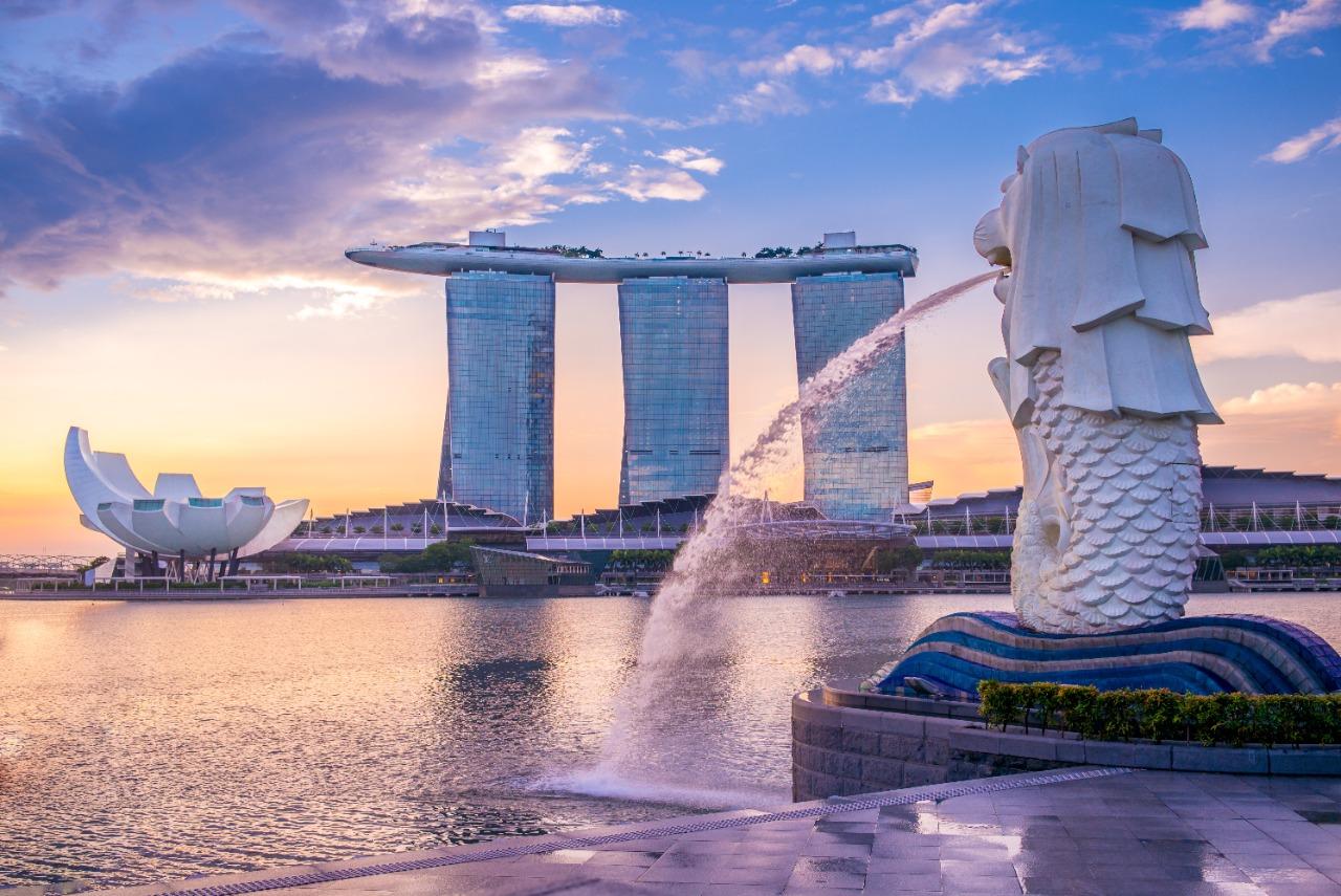 Patung Merlion, salah satu pusat wisata di Singapura | Shutterstock/Richie Chan