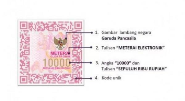 Meterai elektronik 10000