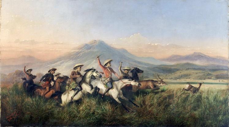 Six Horsemen Chasing Deer by Raden Saleh   Foto: National Gallery Singapore/File