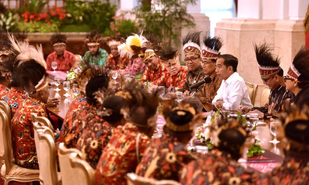 Pertemuan Presiden dengan masyarakat Papua di tahun 2019