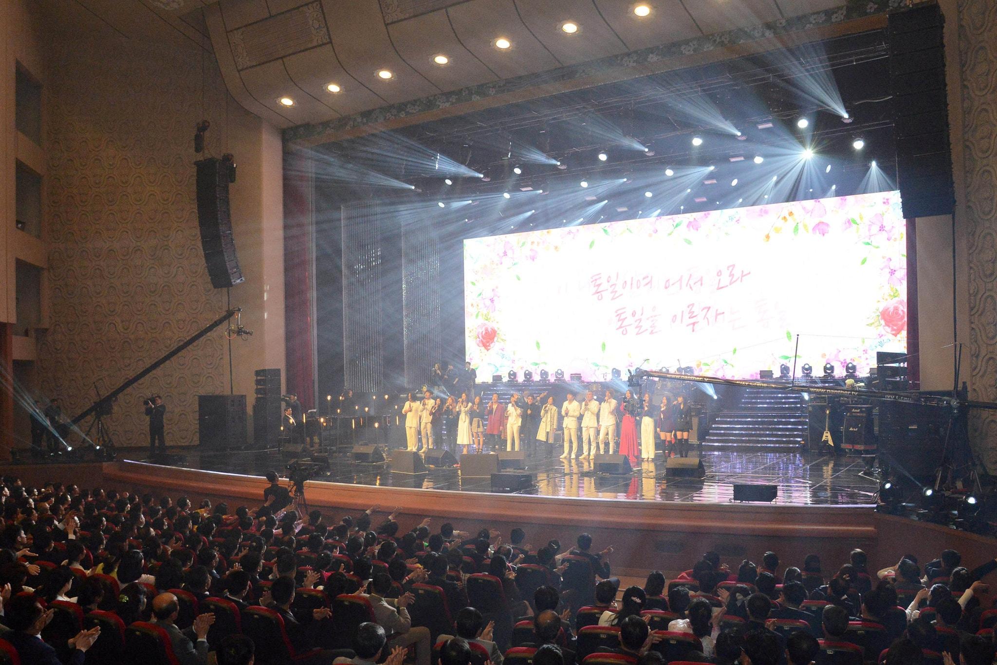 Pertujukan Kpop di Pyongyang, Korut. Historik | Korea Central News Agency
