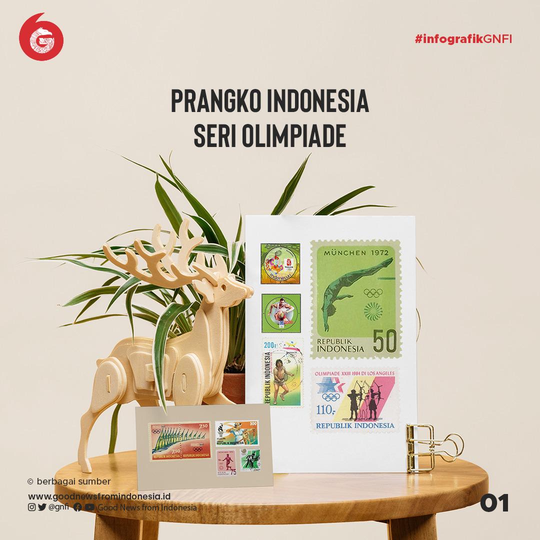 Jajaran Perangko Indonesia Edisi Olimpiade | Good News From Indonesia