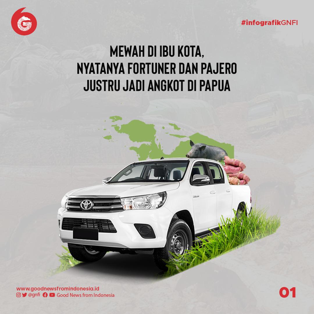 Kendaraan Mewah di Kota, Nyatanya 2 Mobil Ini Jadi Angkot di Papua | Good News From Indonesia